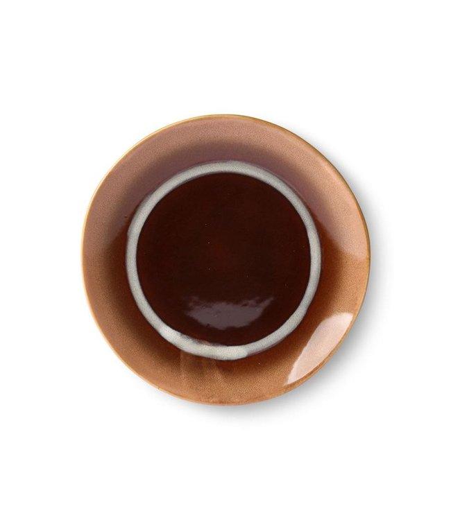 HKliving Dessertteller Stream Keramik 70ern