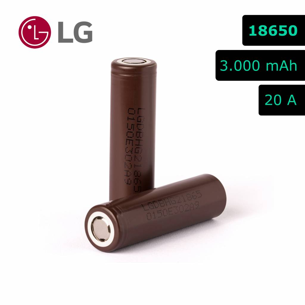 LG INR 18650 HG2 - 3000 mAh