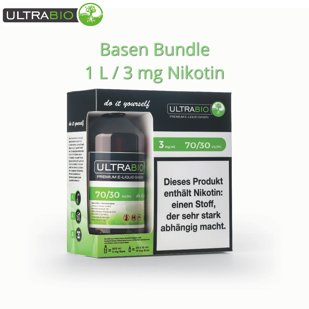 Ultrabio Basen Bundle inkl. Nikotin Shots