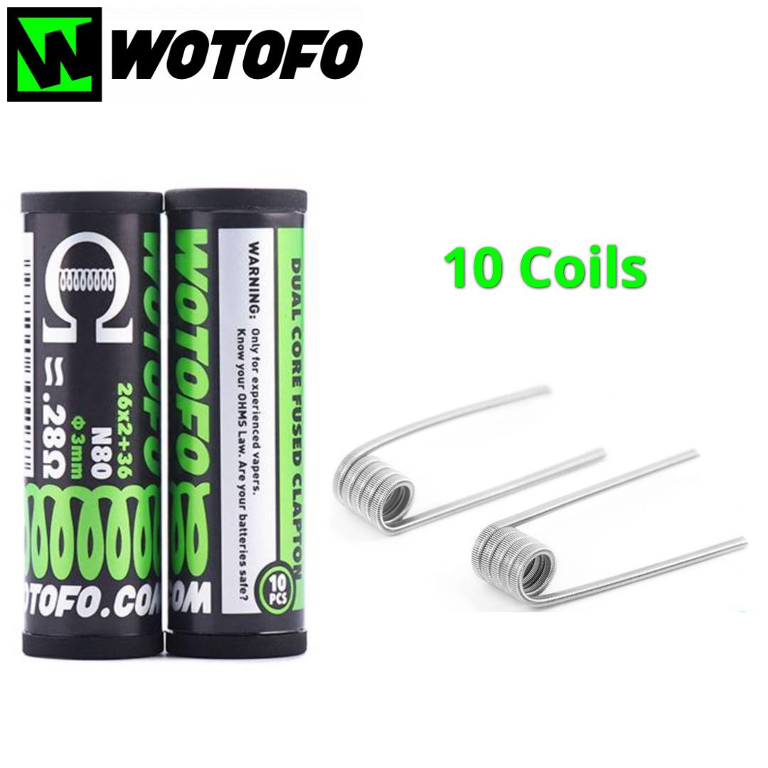Wotofo Dual Core Fused Clapton - 10 Coils