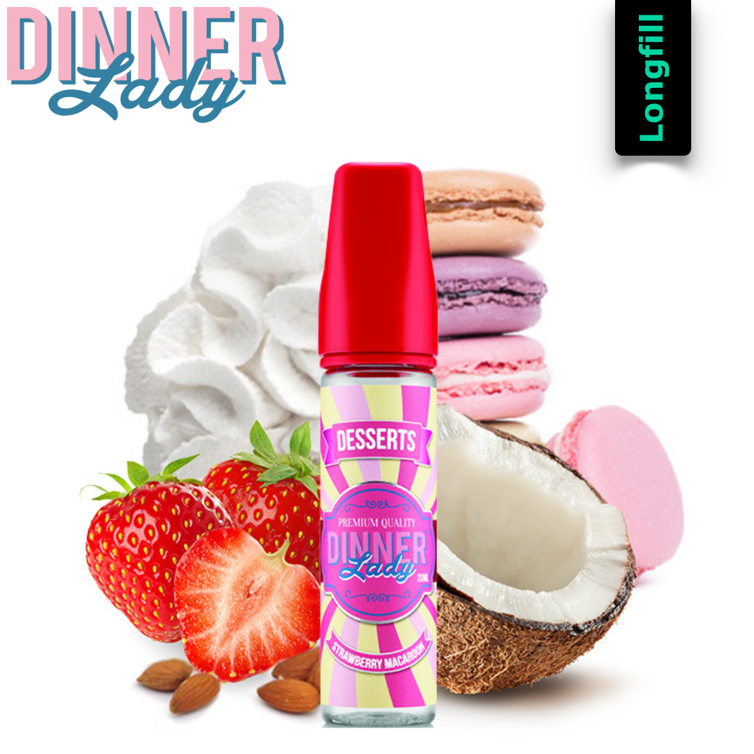 Dinner Lady Strawberry Macarons 20 ml Longfill Aroma