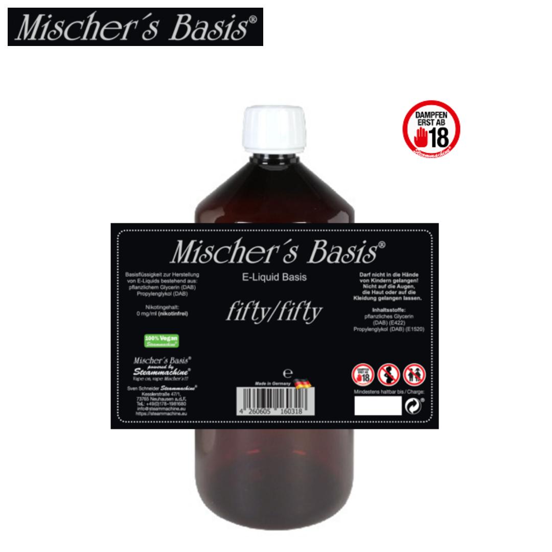 Mischer´s Basis Base 50 VG / 50 PG 1000 ml