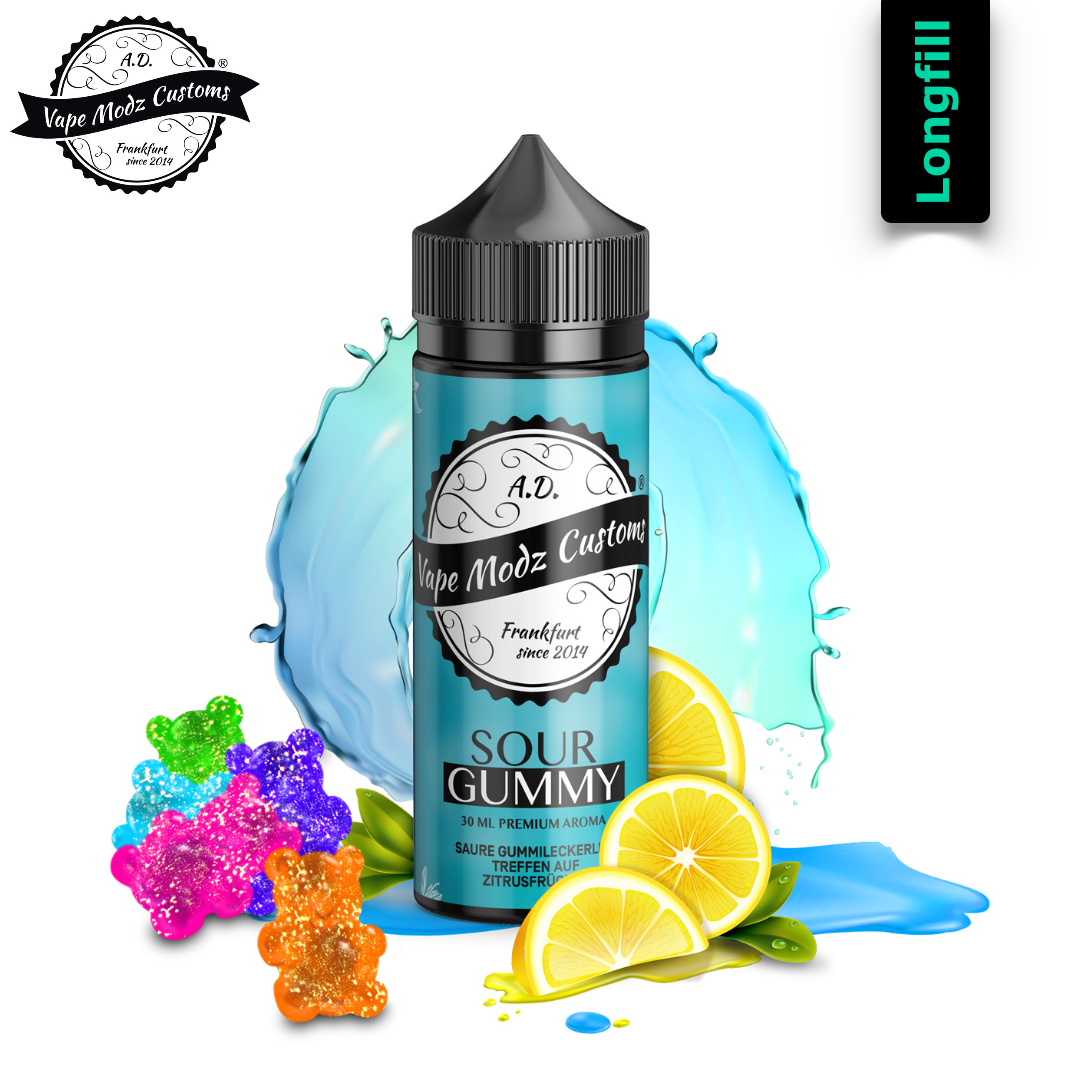 Vape Modz Customs VMC Sour Gummy  30 ml Longfill Aroma