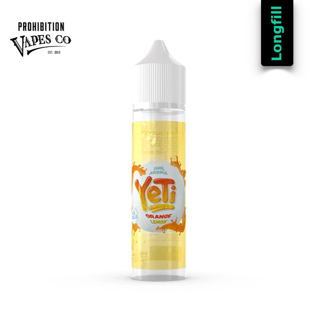 Prohibition Vapes Yeti Orange Lemon Longfill Aroma