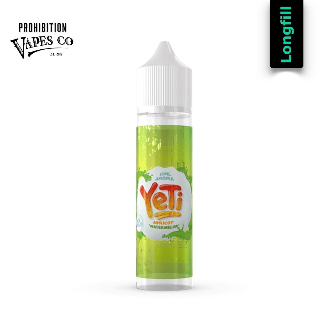 Prohibition Vapes Yeti Apricot Watermelon 15 ml Longfill Aroma