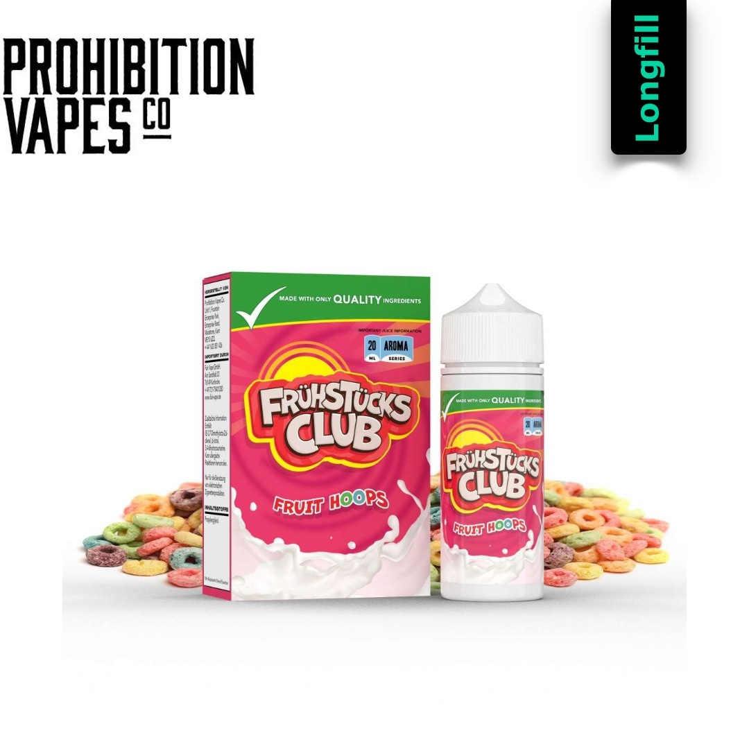 Prohibition Vapes Fruit Hoops  20 ml Longfill Aroma