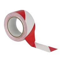 Ruban haute résistance 50 mm x100 m Rouge/Blanc