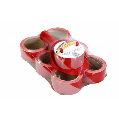 Scroller signalisation ruban / barrière bande - Comprend 7 rouleaux