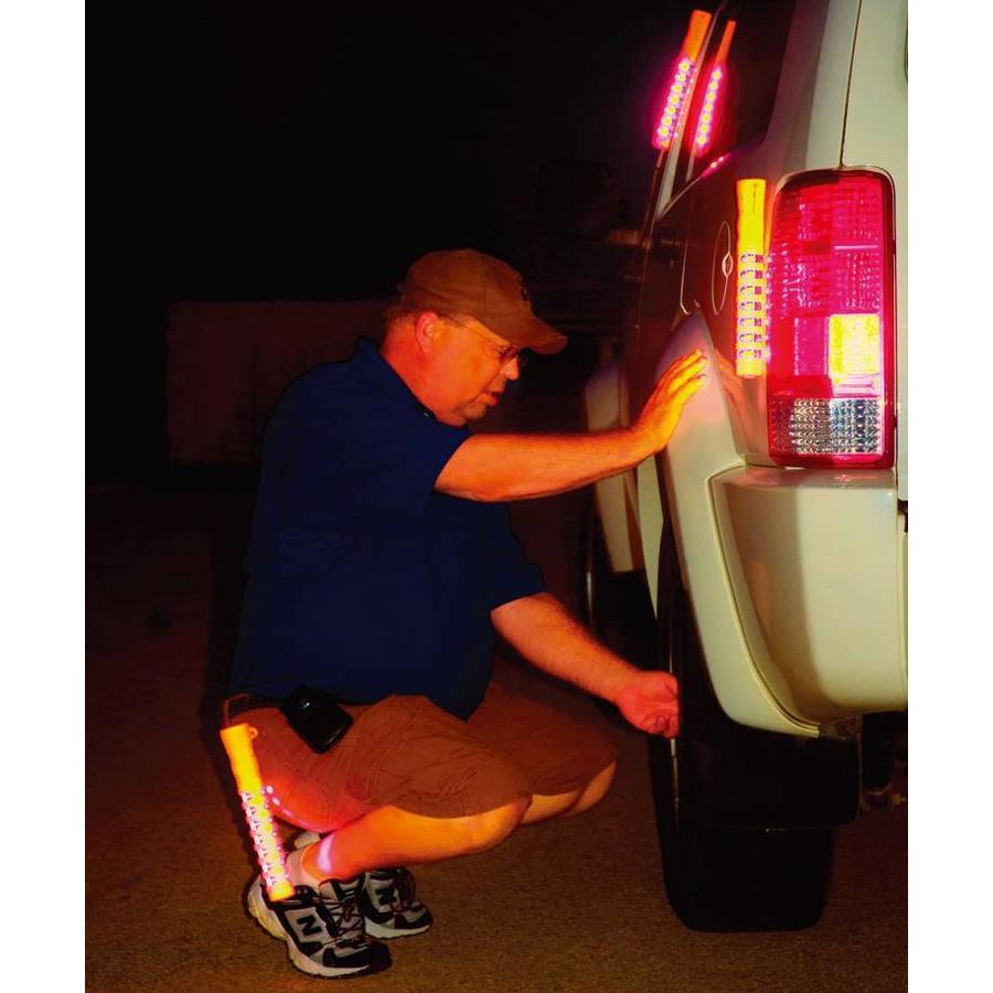 Baton de police lumineux - orange - rechargeable-4