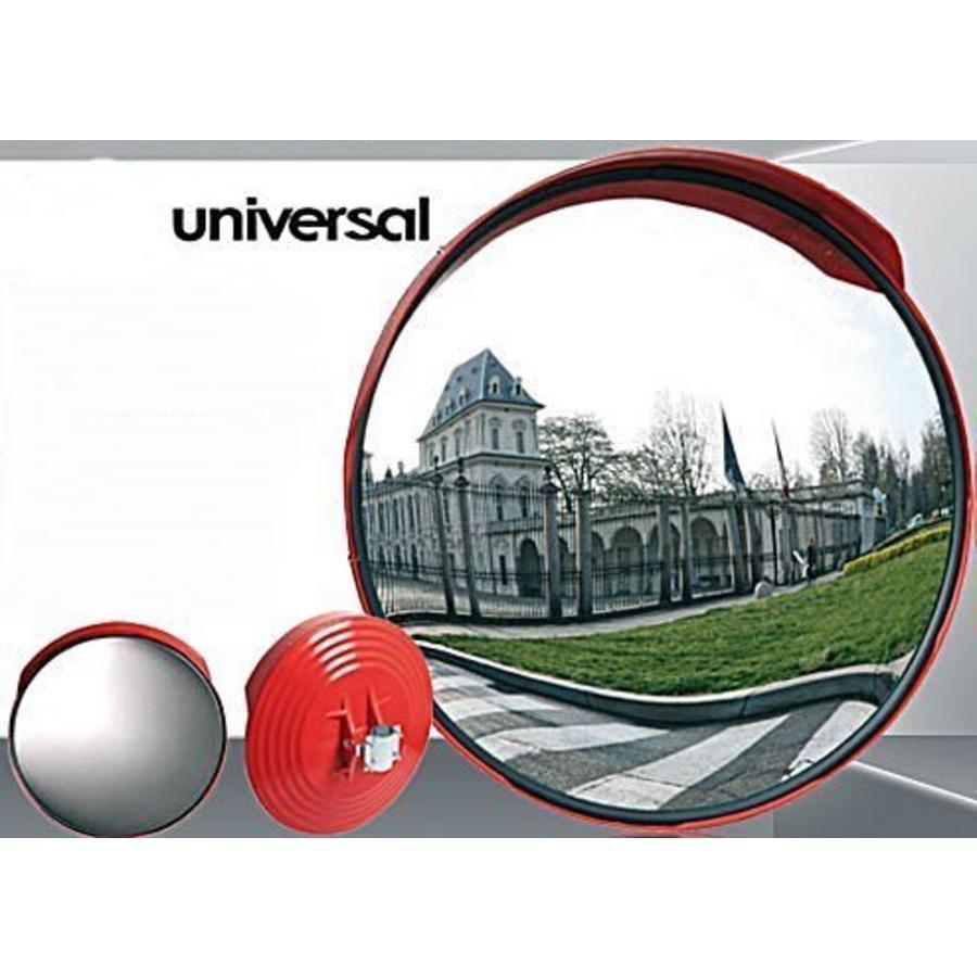 Miroir de circulation 'UNIVERSAL' (Rond) 600 mm - cadre rouge-2