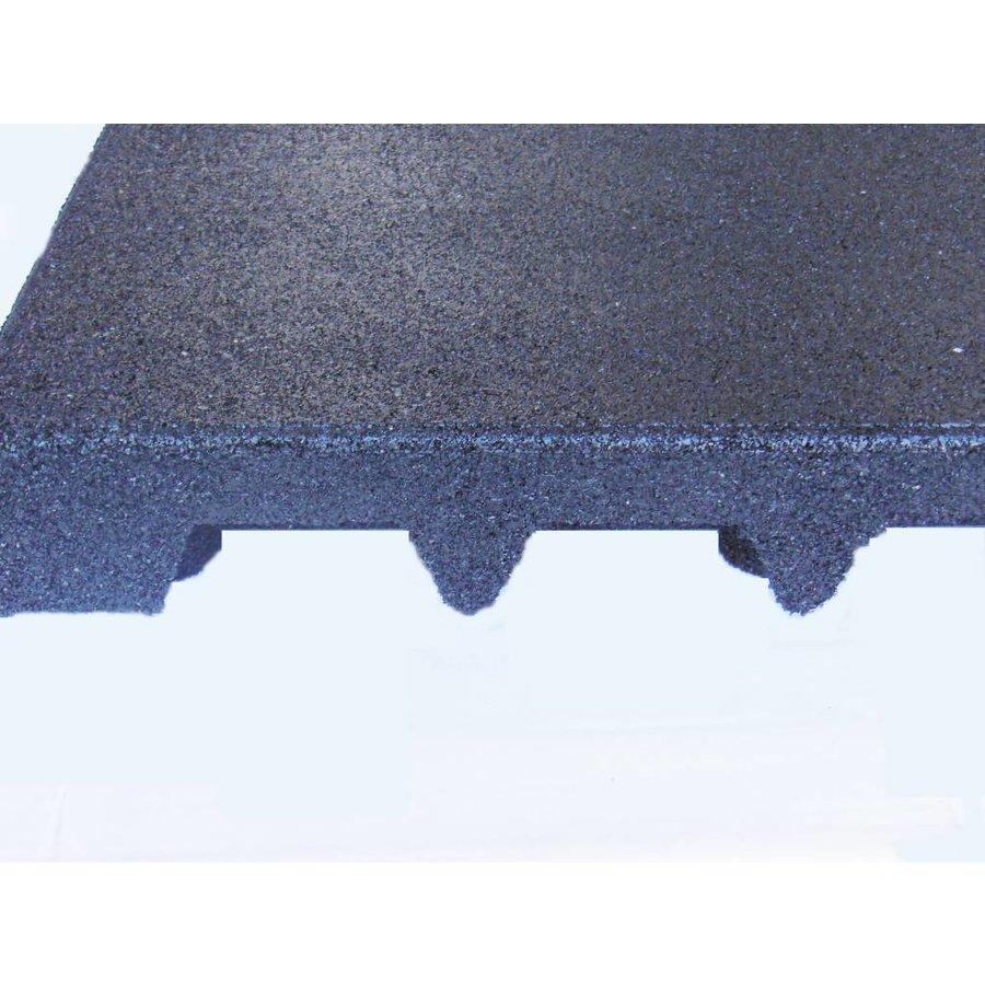 Zwart rubberen veiligheidstegel 100 x 100 x 7.5 cm-2