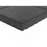 thumb-Zwart rubberen veiligheidstegel 60 x 60 x 5.5 cm-1