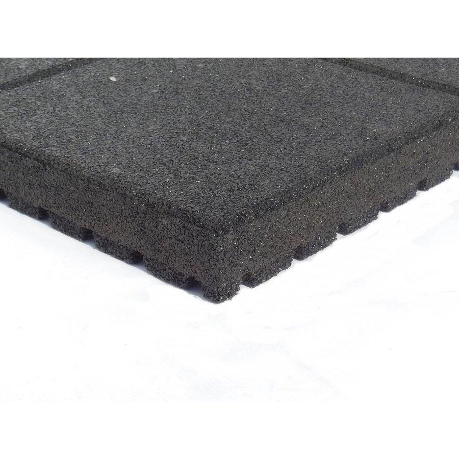 Zwart rubberen veiligheidstegel 60 x 60 x 5.5 cm-1