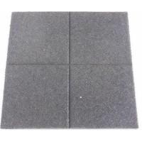 thumb-Dalle de sécurité en caoutchouc 60 x 60 x 5.5 cm noir-2