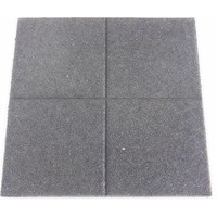 thumb-Zwart rubberen veiligheidstegel 60 x 60 x 5.5 cm-2
