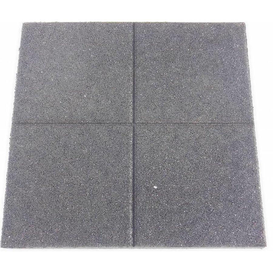 Zwart rubberen veiligheidstegel 60 x 60 x 5.5 cm-2