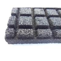 thumb-Zwart rubberen veiligheidstegel 60 x 60 x 5.5 cm-3