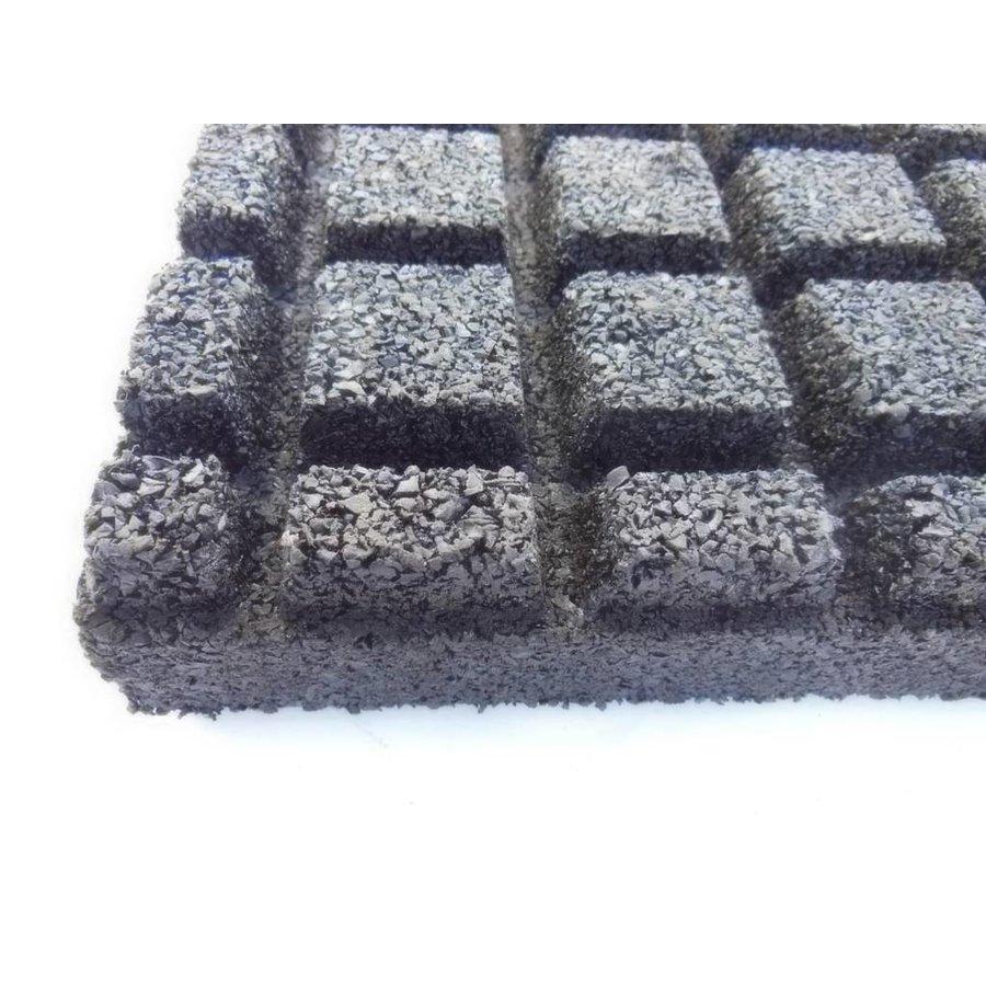 Zwart rubberen veiligheidstegel 60 x 60 x 5.5 cm-3