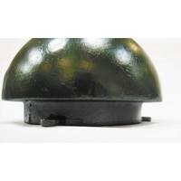 thumb-Trottoirpaal halve bol in gietijzer (RAL 6009 - groen)-3