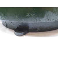 thumb-Trottoirpaal halve bol in gietijzer (RAL 6009 - groen)-5