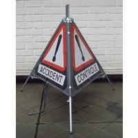 thumb-Signalisatiebord 'TRIPAN' - bord A51 - GEVAAR - opvouwbaar-2