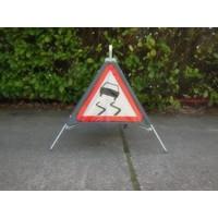 thumb-Signalisatiebord 'TRIPAN' - bord A15 - SLIPGEVAAR - opvouwbaar-1