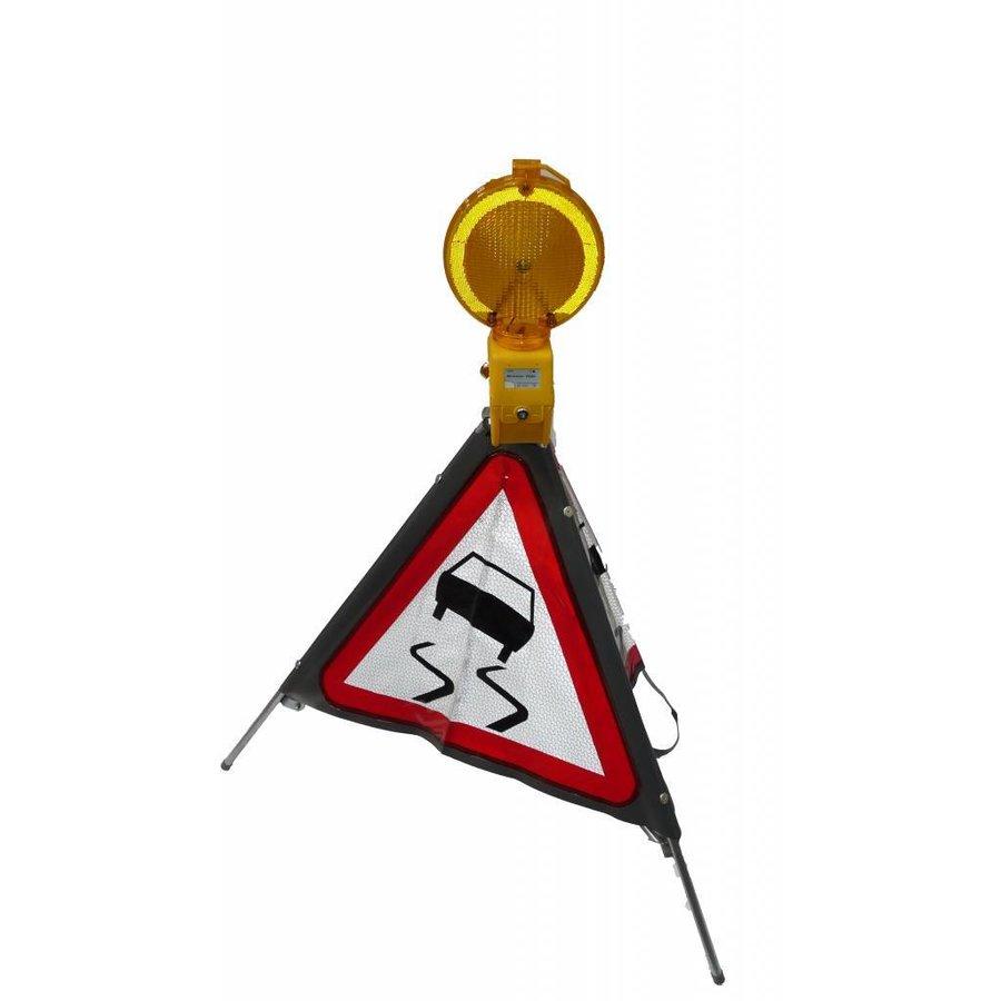 Signalisation 'TRIPAN' - panneau A15 - CHAUSSEE GLISSANTE - pliable-2