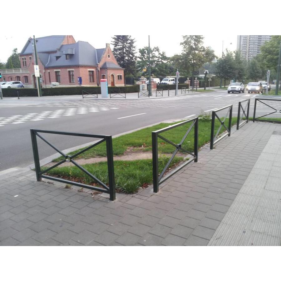 Grande barrière de ville de Croix St. André 163 x 88 cm - Vert (RAL 6009)-2