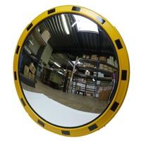 thumb-Miroir industrie Rond 800 mm avec cadres  en jaune et noir-1