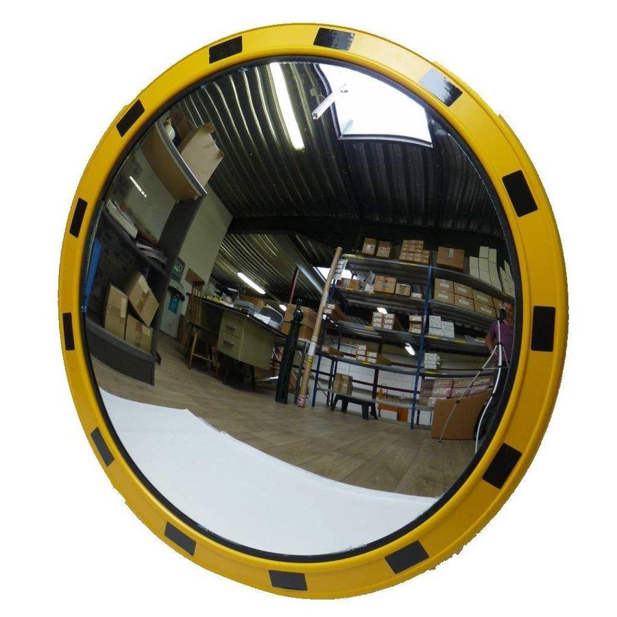 Miroir industrie Rond 800 mm avec cadres  en jaune et noir-1