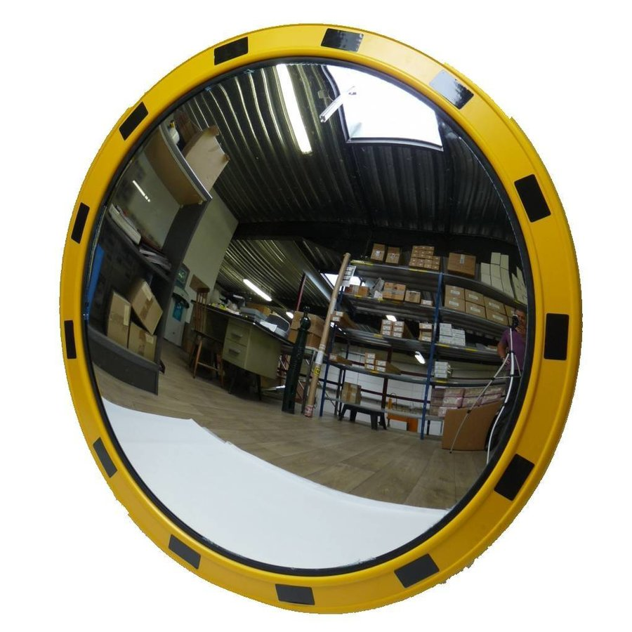 Verkeersspiegel 'INDUSTRIE' (Rond) 800 mm - geel/zwart-1