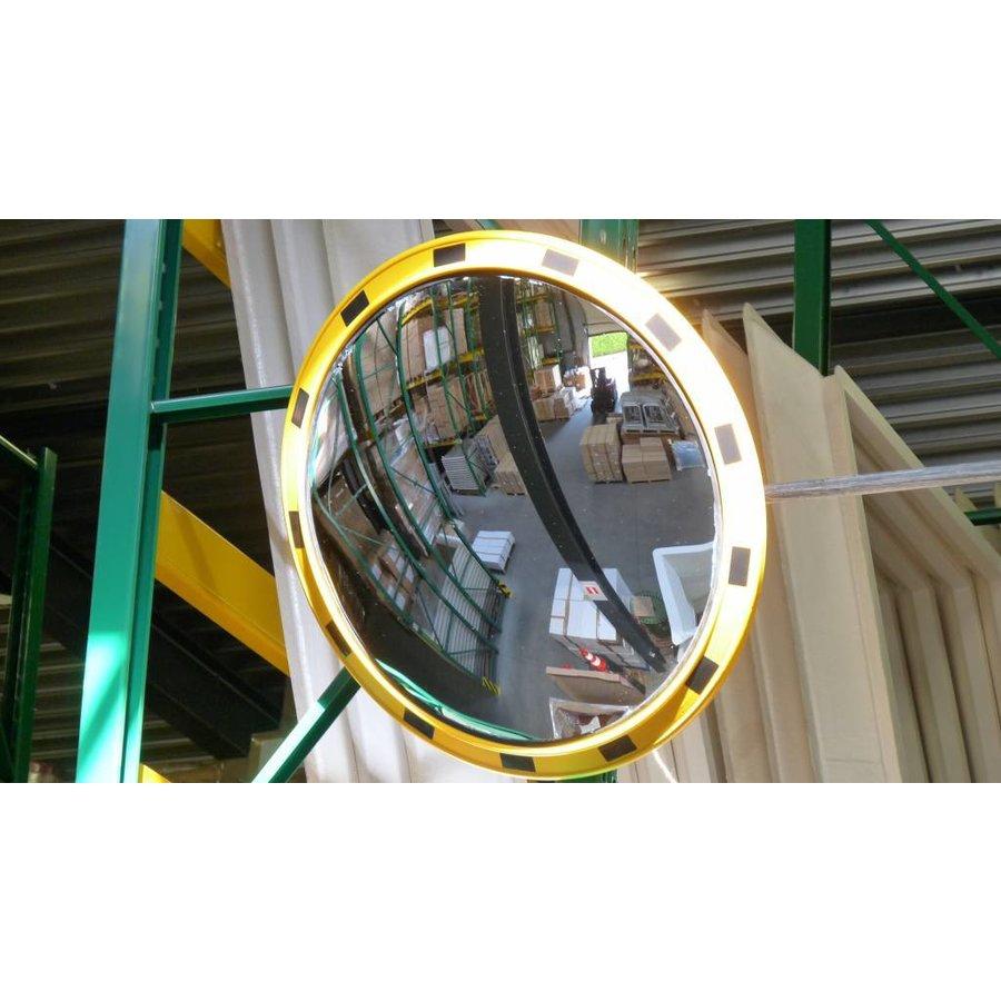 Miroir industrie Rond 800 mm avec cadres  en jaune et noir-2