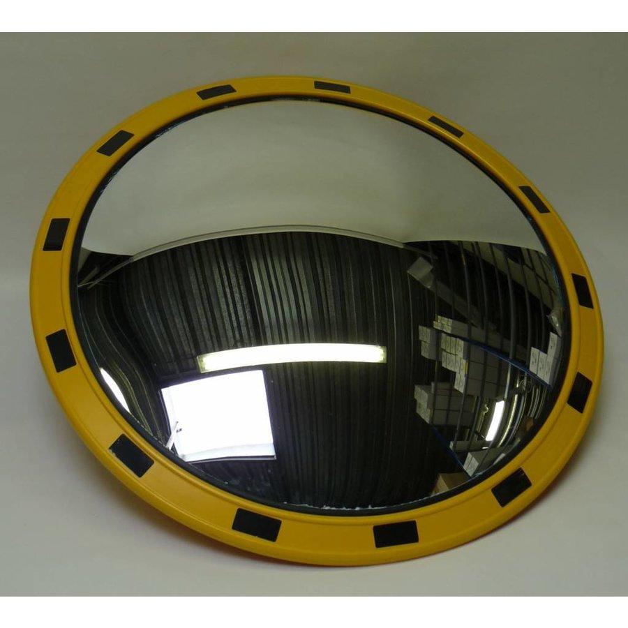 Miroir industrie Rond 800 mm avec cadres  en jaune et noir-4