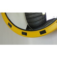 thumb-Miroir industrie Rond 800 mm avec cadres  en jaune et noir-5