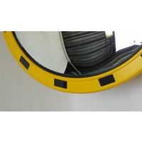 thumb-Verkeersspiegel 'INDUSTRIE' (Rond) 800 mm - geel/zwart-5