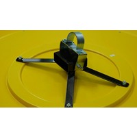 thumb-Miroir industrie Rond 800 mm avec cadres  en jaune et noir-6