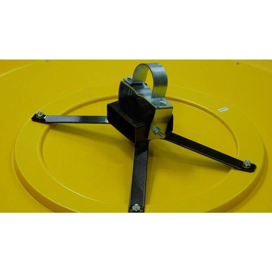 Miroir industrie Rond 800 mm avec cadres  en jaune et noir-6