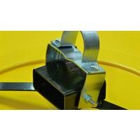 thumb-Miroir industrie Rond 800 mm avec cadres  en jaune et noir-7