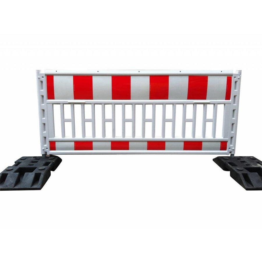 Werfhek Euro-barrier -  200 x 120 cm - rood/wit-1