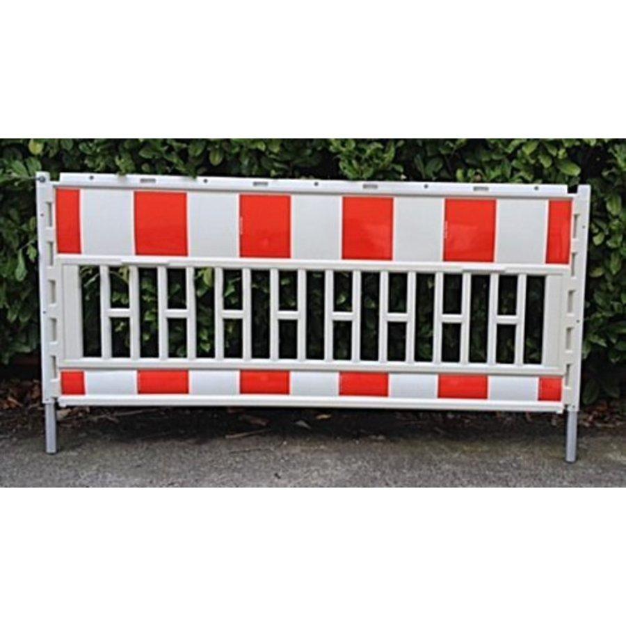 Werfhek Euro-barrier -  200 x 120 cm - rood/wit-2