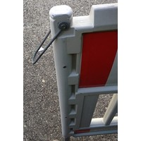 thumb-Werfhek Euro-barrier -  200 x 120 cm - rood/wit-3