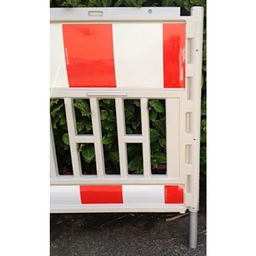 Werfhek Euro-barrier -  200 x 120 cm - rood/wit-4