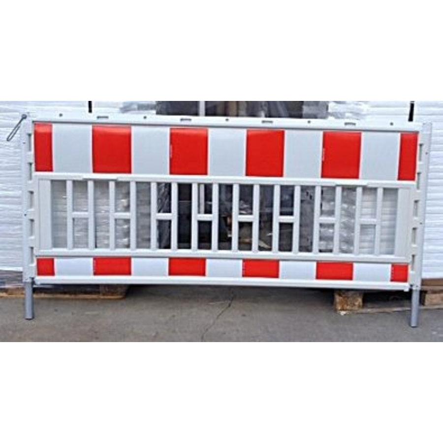 Werfhek Euro-barrier -  200 x 120 cm - rood/wit-5