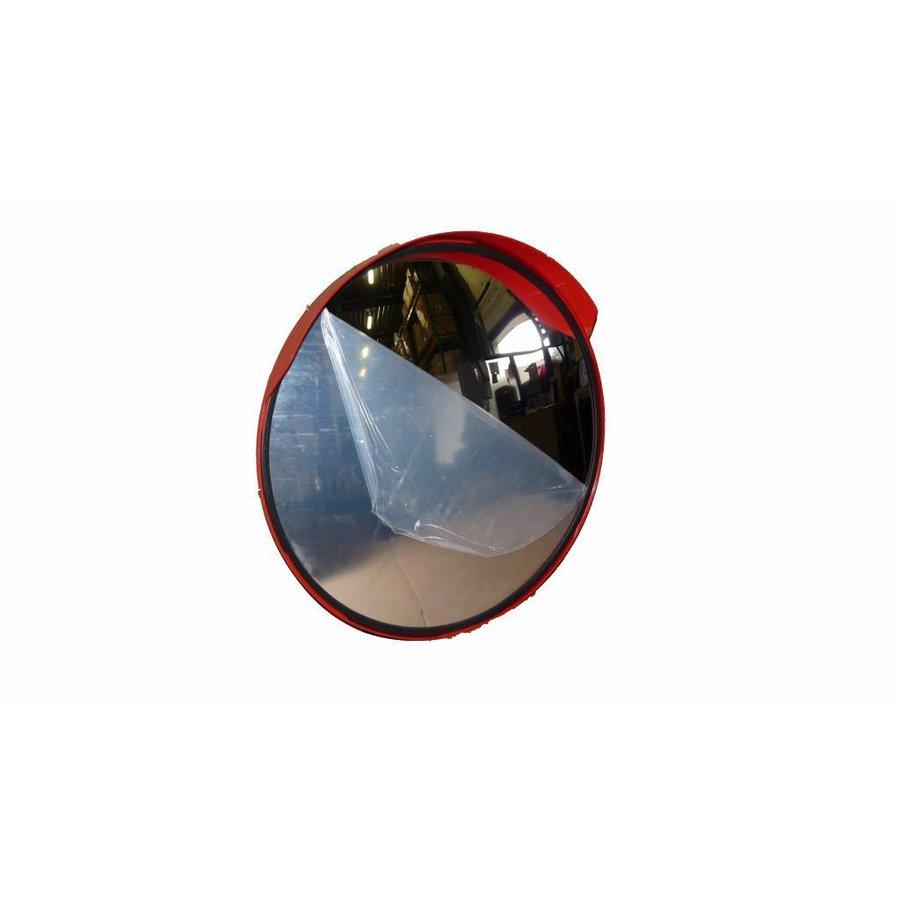 Rond miroir de circulation 'UNIVERSAL' 400 mm avec cadre rouge-1