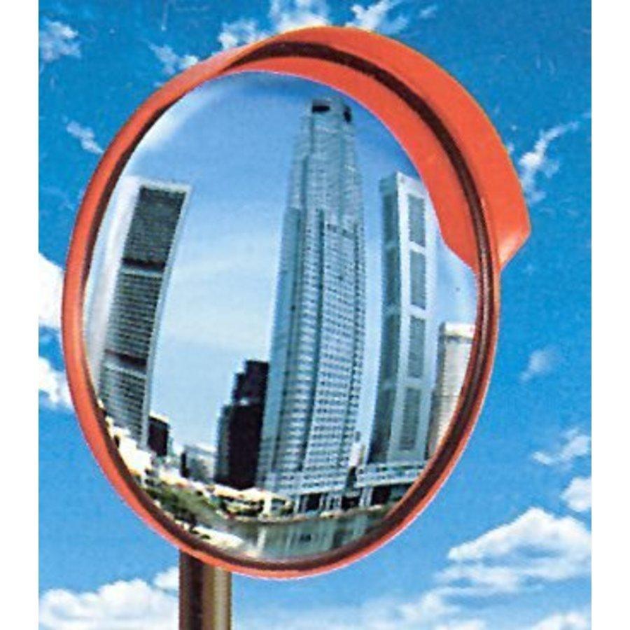 Rond miroir de circulation 'UNIVERSAL' 400 mm avec cadre rouge-2
