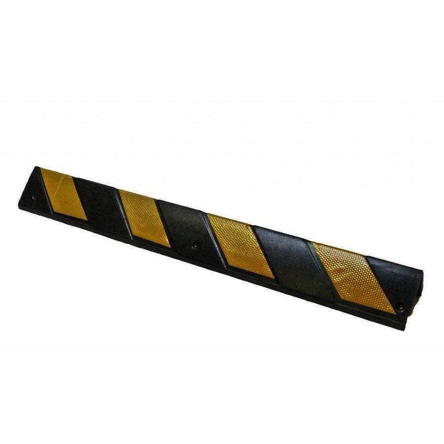 Hoekbescherming rubber 800 x 100 x 8 mm - geel/zwart-2