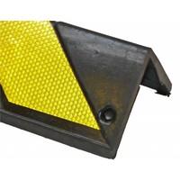 thumb-Hoekbescherming rubber 800 x 100 x 8 mm - geel/zwart-3