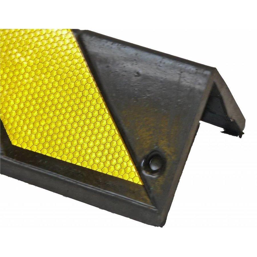 Hoekbescherming rubber 800 x 100 x 8 mm - geel/zwart-3