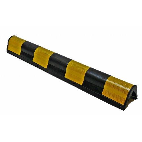 Hoekbescherming rubber 800x135x10 mm afgerond - geel/zwart
