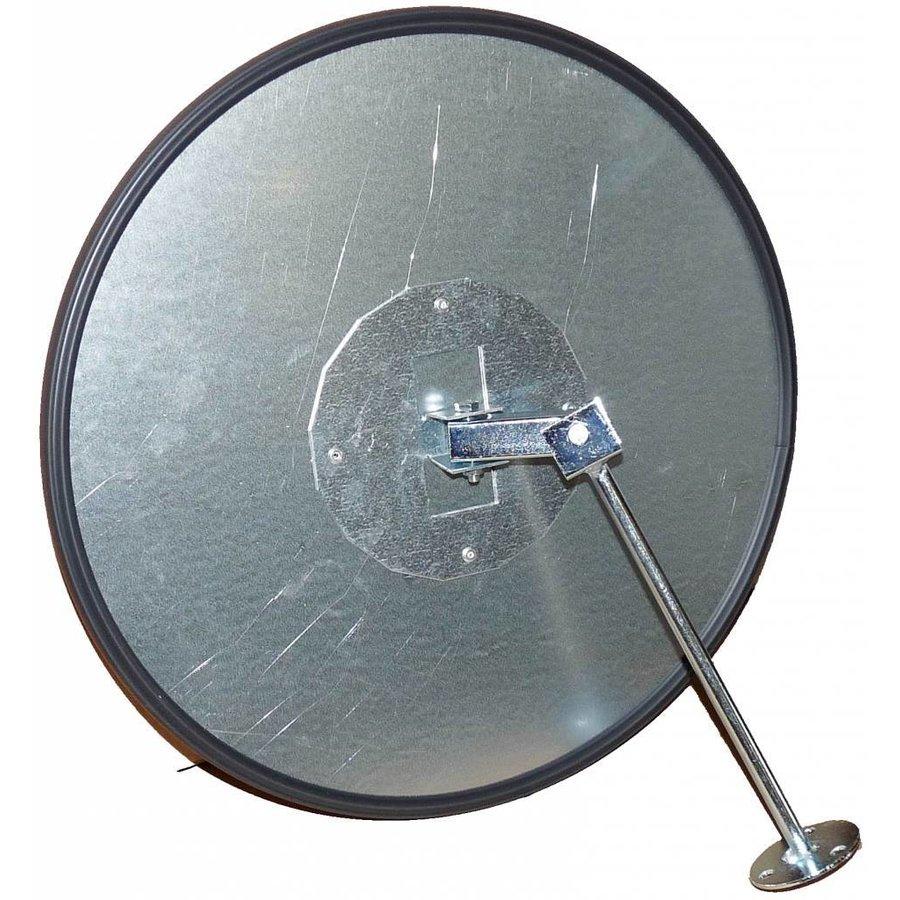 Veiligheidsspiegel - Anti diefstal - Rond 400 & 600 mm. zwarte kader-5